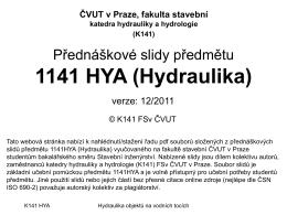 0 1 - Katedra hydrauliky a hydrologie