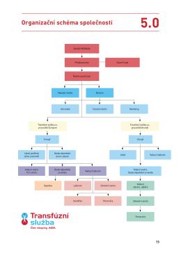 Organizační schéma společnosti ve formátu pdf