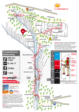 Postalmklamm Klettersteig mit F-Variante