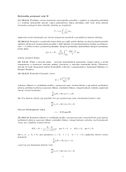 Hydraulika podzemní vody II (1) 19.2.14. Přetékání, rovnice
