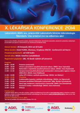 X. LÉKAŘSKÁ KONFERENCE 2014