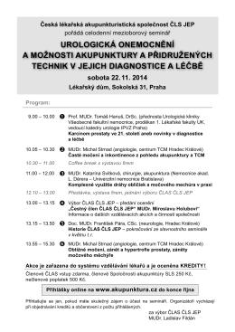Program ve formátu pdf - Česká lékařská akupunkturistická společnost