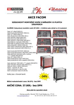 AKCE FACOM - glazing autodíly