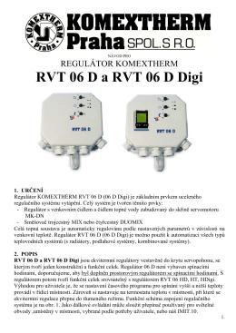 RVT 06 D a RVT 06 D Digi