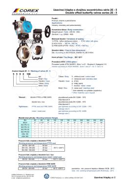 Uzavírací klapka s dvojitou excentricitou série 2E - 5