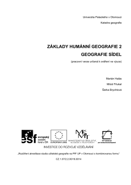 Geografie sídel - Rozšíření akreditace studia učitelské geografie na