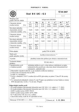 Ocel B 6 UIC – G 2