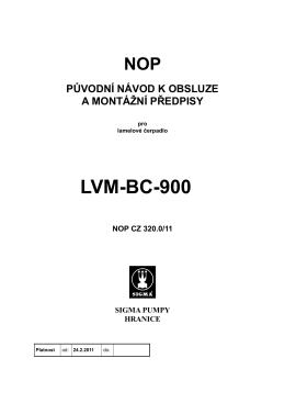 LVM-BC-900 - Sigmashop.cz