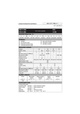 âSN 41 4260 Si-Cr ocel na pruĎiny OCEL STN 41 4260 14 260