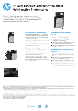 HP Color LaserJet Enterprise flow M880 Multifunction - OK