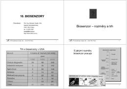 10 Biosenzory.pdf - Katedra mikroelektroniky