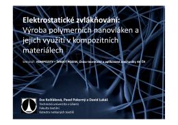Elektrostatické zvlákňování
