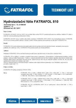 technicky-list-fatrafol-810-cz