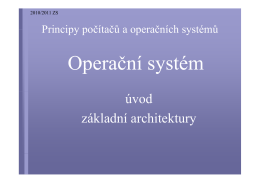 Architektury a vývoj operačních systémů