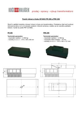 Tlumič vibrací a hluku ISTAKO PR (K) 206
