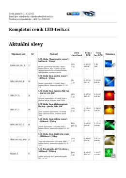 Aktuální slevy - LED