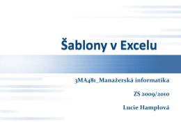 Šablony v Excelu