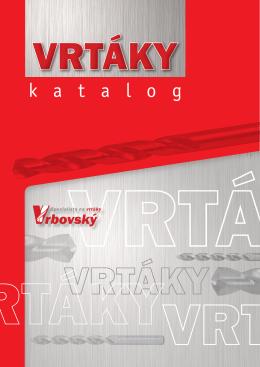 Katalog VRBOVSKÝ- vrtáky do kovu - Vrtaky