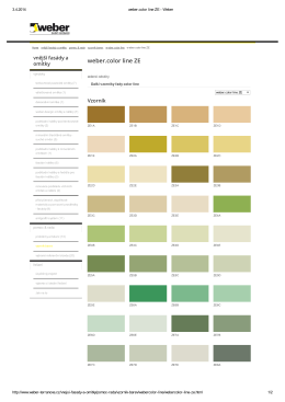 weber.color line ZE - zelené odstíny - Stavebniny