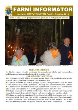 5. dubna 2015 - Farnost Pustiměř