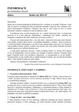 INFORMACE - Biskupství brněnské