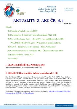 Aktuality z AKC ČR č. 4