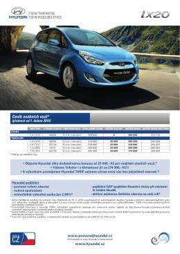 Ceník osobních vozů*