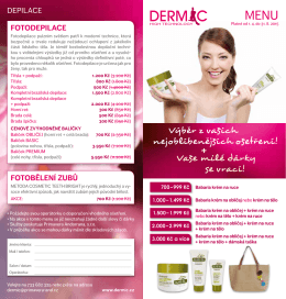 Menu DERMIC platné od 1.4. do 31.8.2015