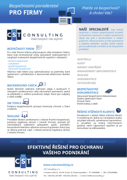 PRO FIRMY - CST Consulting