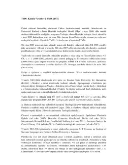 životopis - Husitská teologická fakulta