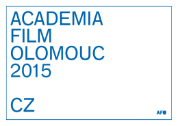 Program  - Academia Film Olomouc