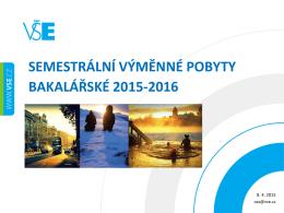 Infoschůzka 2015-16 Erasmus+ - Oddělení zahraničních styků