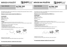 Světla, svítidla a osvětlení - PANLUX | eshop českého výrobce svítidel