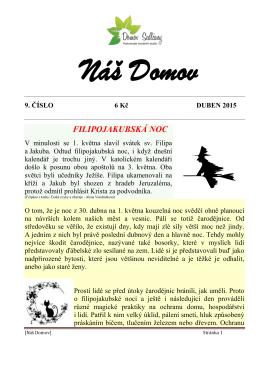 Duben 2015 - Domov Sedlčany