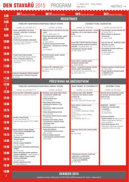 DEN STAVAŘŮ 2015 PROGRAM - konference