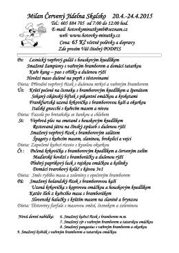 Milan Červený Jídelna Skalsko 20.4.
