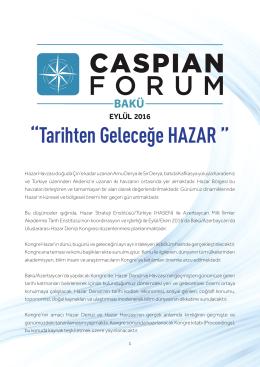 """""""Tarihten Geleceğe HAZAR """" - Hazar Strateji Enstitüsü"""
