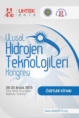 20-23 Aralık 2015 - Ulusal Hidrojen Teknolojileri Kongresi