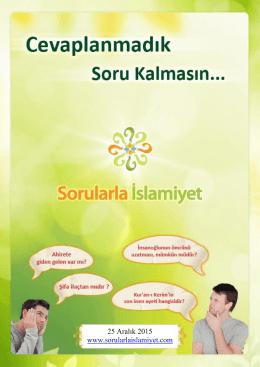 25 Aralık 2015 www.sorularlaislamiyet.com