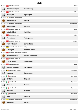 Kastamonuspor Galatasaray Bucaspor Aydinspor Kalev/Cramo