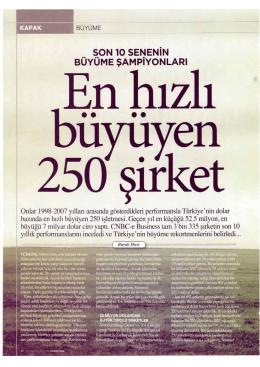 CNBC-e Business, Kasım 2008 Probil Türkiye`de en hızlı büyüyen