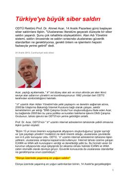 Türkiye`ye büyük siber saldırı
