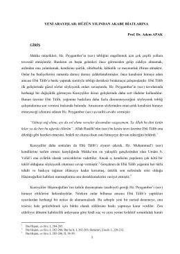 HÜZÜN YILINDAN AKABE BİATLARINA Prof. Dr. Adem APAK GİRİŞ