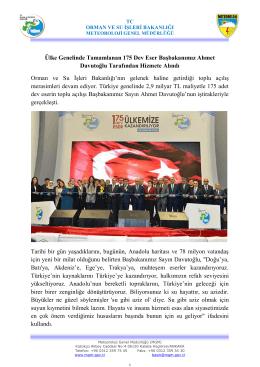 Ülke Genelinde Tamamlanan 175 Dev Eser Başbakanımız Ahmet