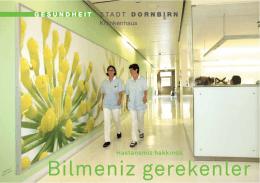 Bilmeniz gerekenler - Krankenhaus Dornbirn