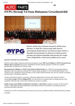 OYPG Derneği Yıl Sonu Buluşması Gerçekleştirildi