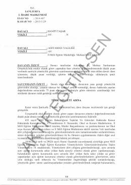 Esastan iptal kararı 2015/1129 Şanlıurfa2 için tıklayınız