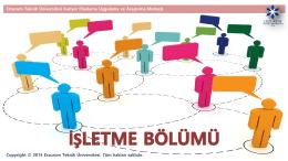 İşletme - Erzurum Teknik Üniversitesi Kariyer Planlama Uygulama