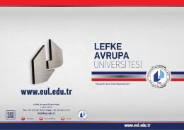 Tanıtım Kataloğu - Lefke Avrupa Üniversitesi