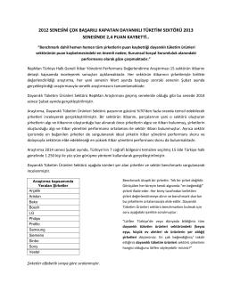 dayanıklı tuketım sektoru ıtıbar yonetımı performansı 2014